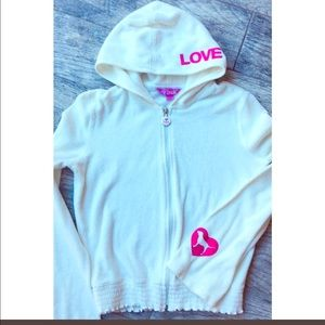 Pink terry cloth sweat jacket